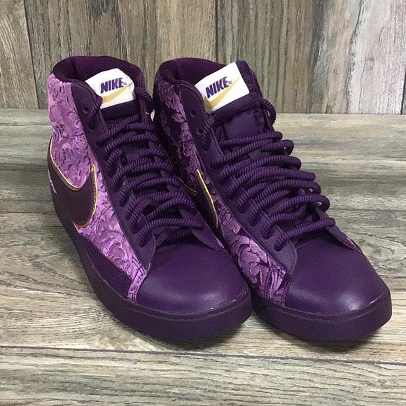 purple gold nike